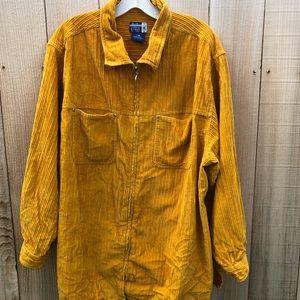 Venezia vintage gold zipper shirt size 18/20